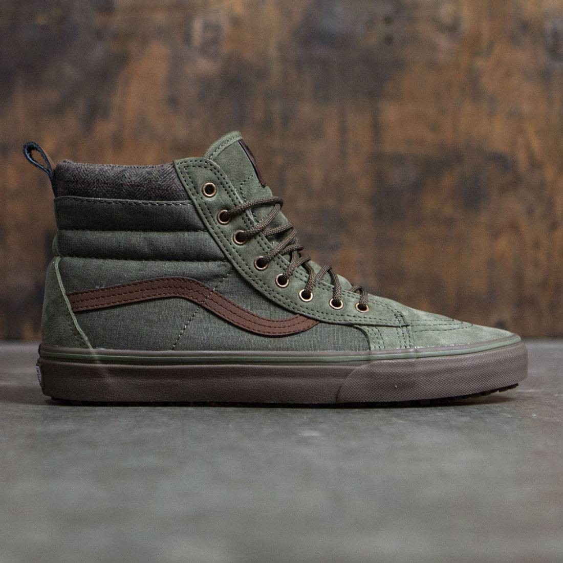 vans men sk8 hi mte dx green dark gum bait