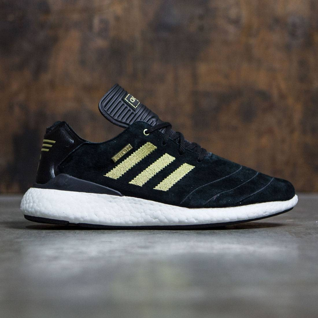 8e24b8a71f721 Adidas Men Busenitz Pure Boost 10 Year Anniversary black gold metallic  footwear white