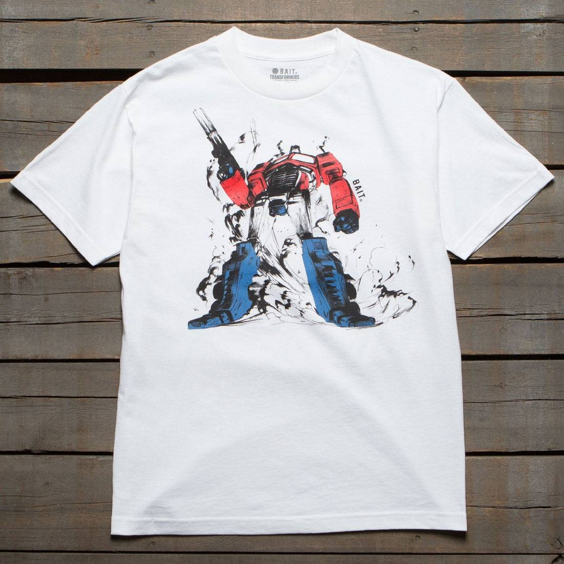 BAIT x Transformers Men Optimus Prime Tee (white)
