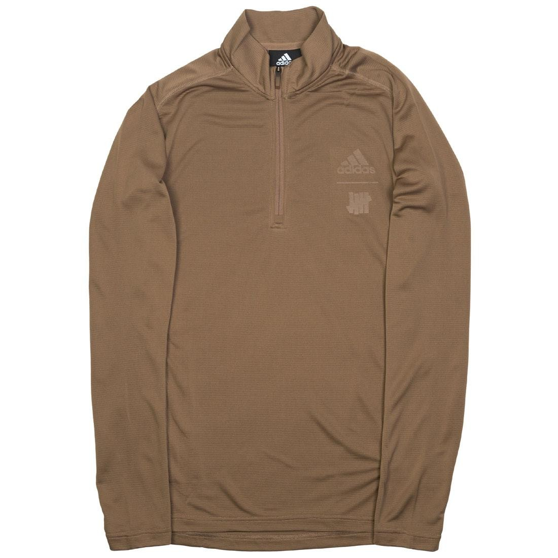 Adidas x Undefeated Men Running Half-Zip Sweatshirt (khaki / tactile khaki)