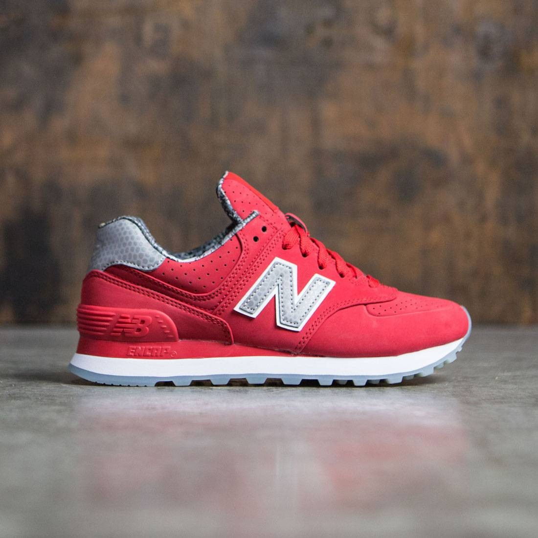 new style df29c f472d New Balance Women 574 Luxe Rep WL574SYB (red)