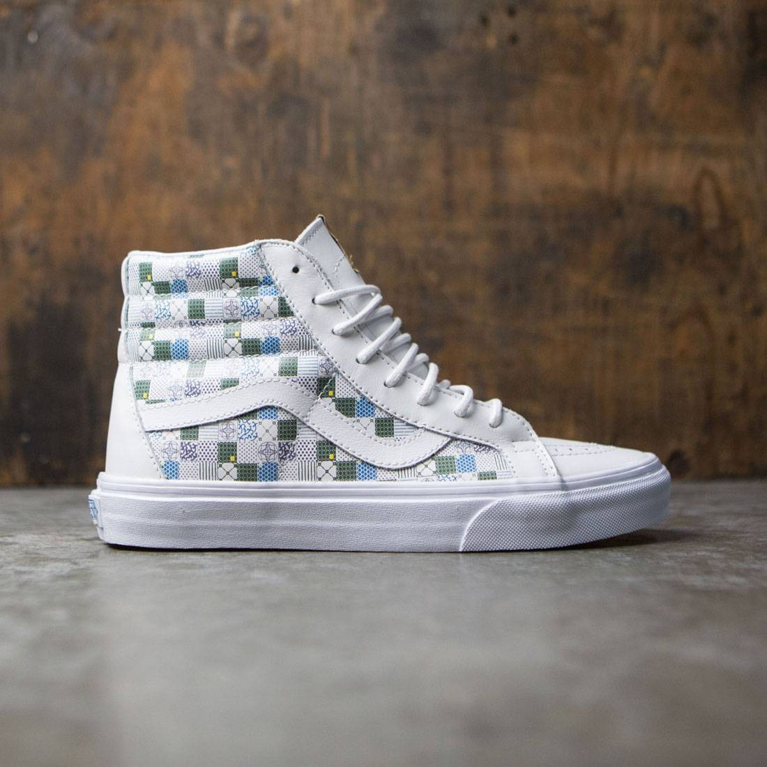 Vans Women Sk8-Hi Reissue DX - Tiles white leather true white fc2f5cbde