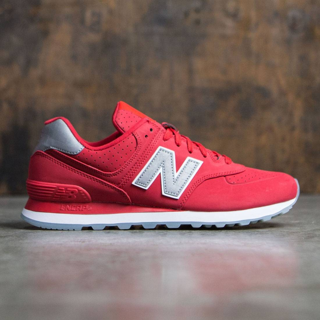 new balance 574 mens red