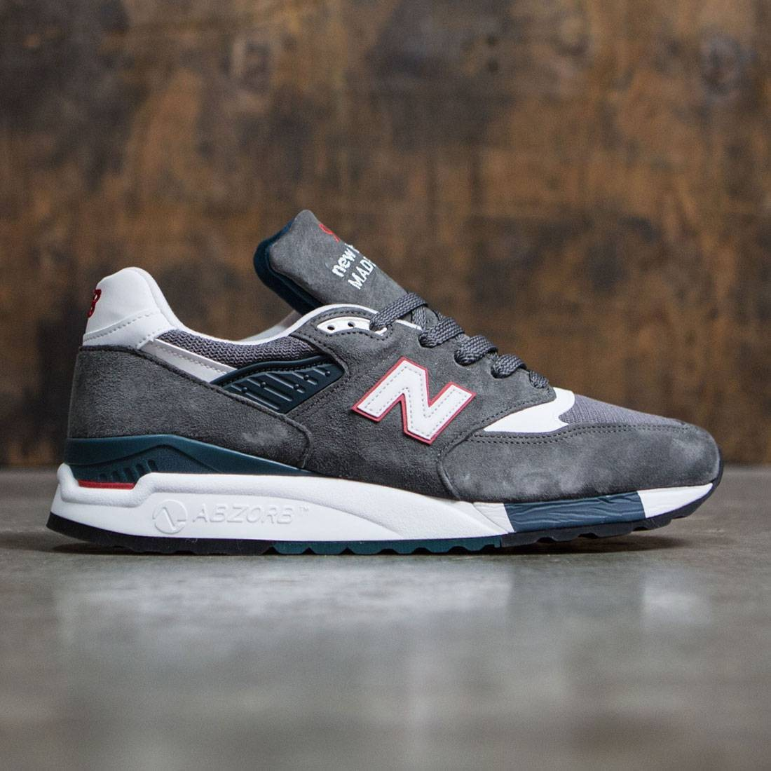 New Balance Men 998 M998CRA - Made In USA gray red 72e6c7014