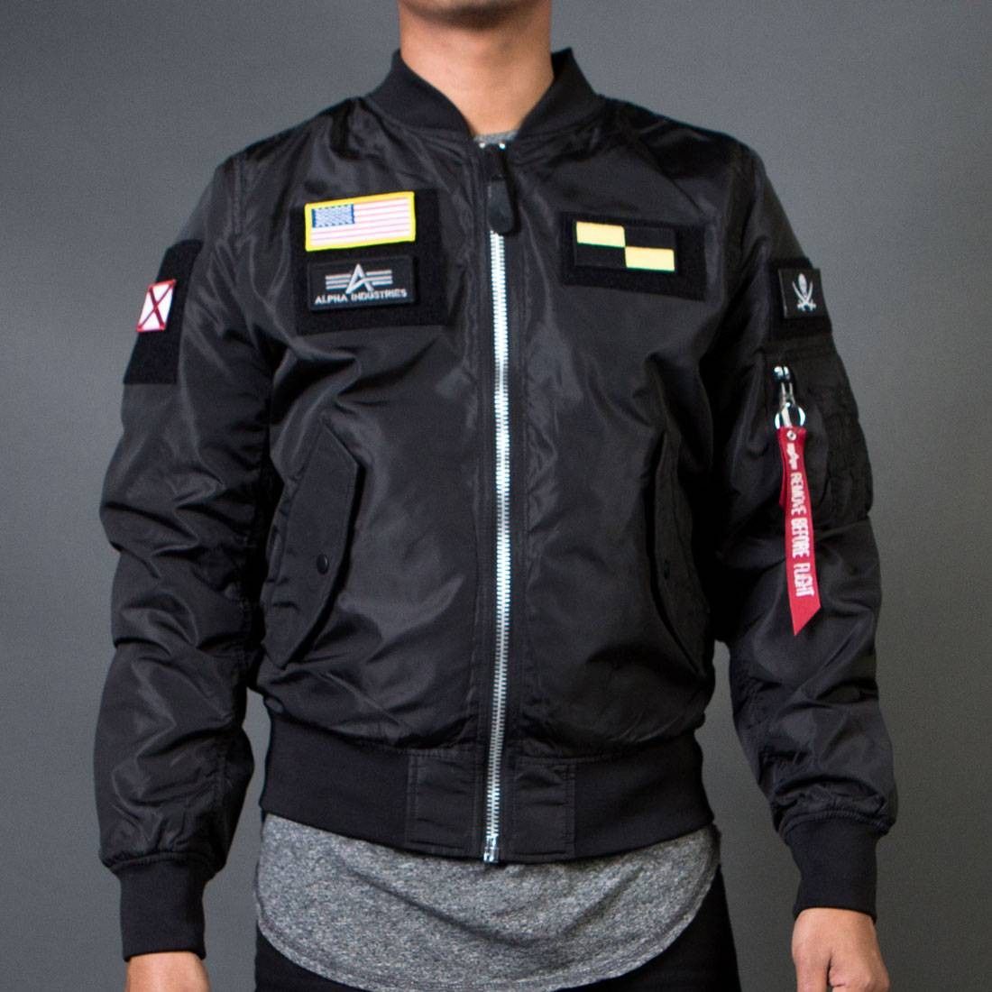 Alpha Industries Men L2B Flex Flight Reversible Jacket (black)