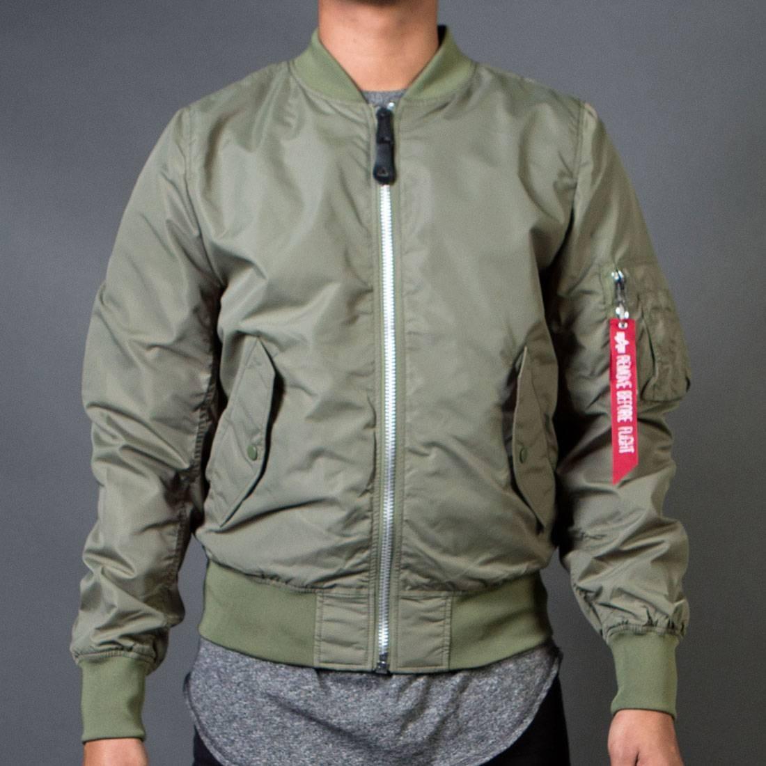 Alpha Industries Men L2B Scout Lightweight Reversible Jacket (green / sage)