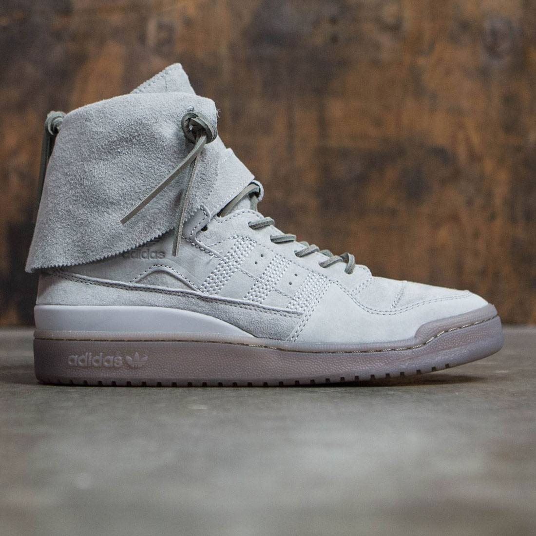 wholesale dealer 0132a 1059c Adidas Men Forum Hi Moc gray stone clay