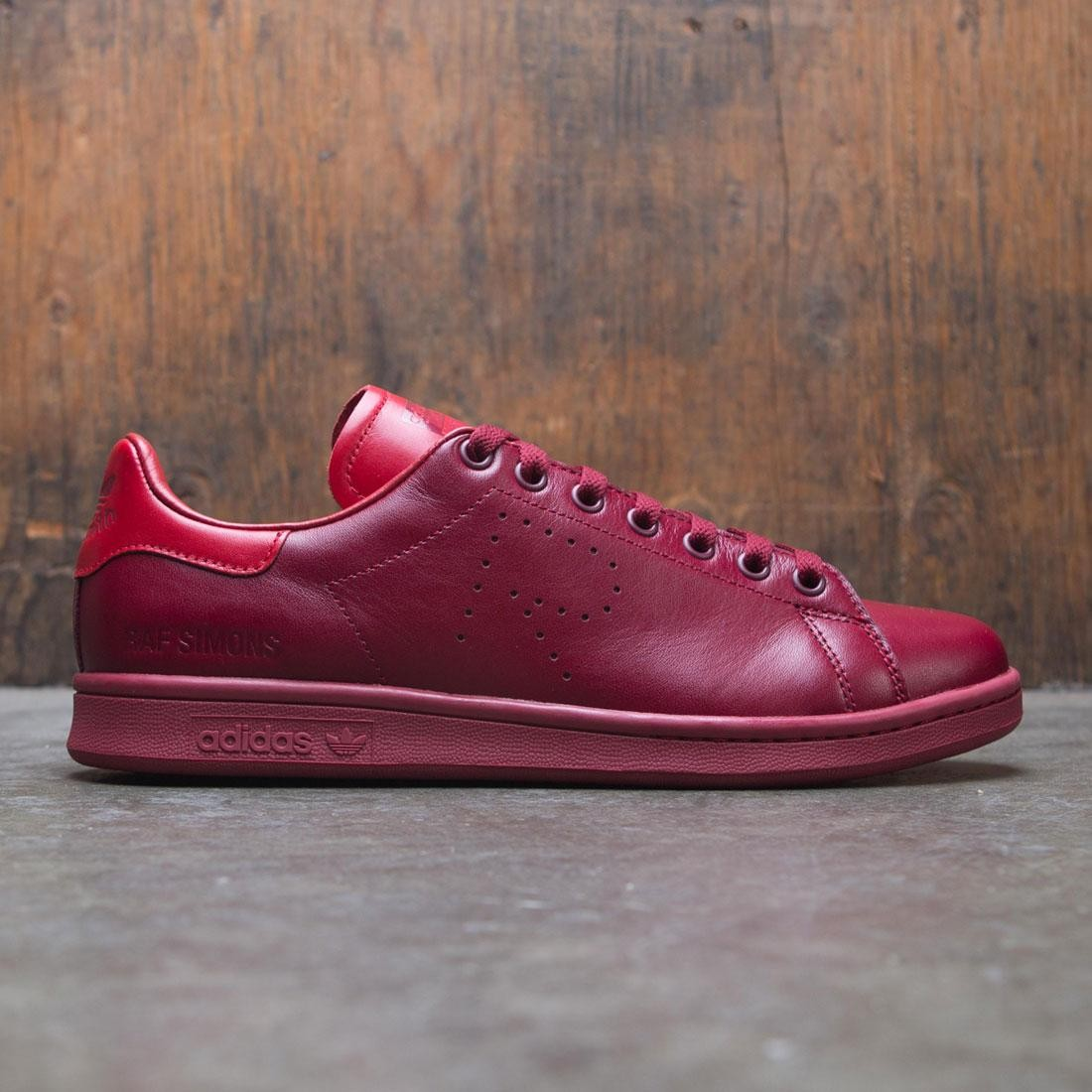 0dba6b9d4af5 Adidas x Raf Simons Men Stan Smith burgundy power red collegaite burgundy