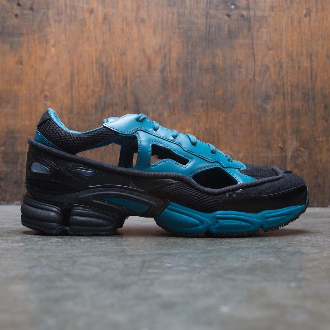 Adidas x Raf Simons Men Replicant Ozweego black colonial blue core black 6766c28ef943