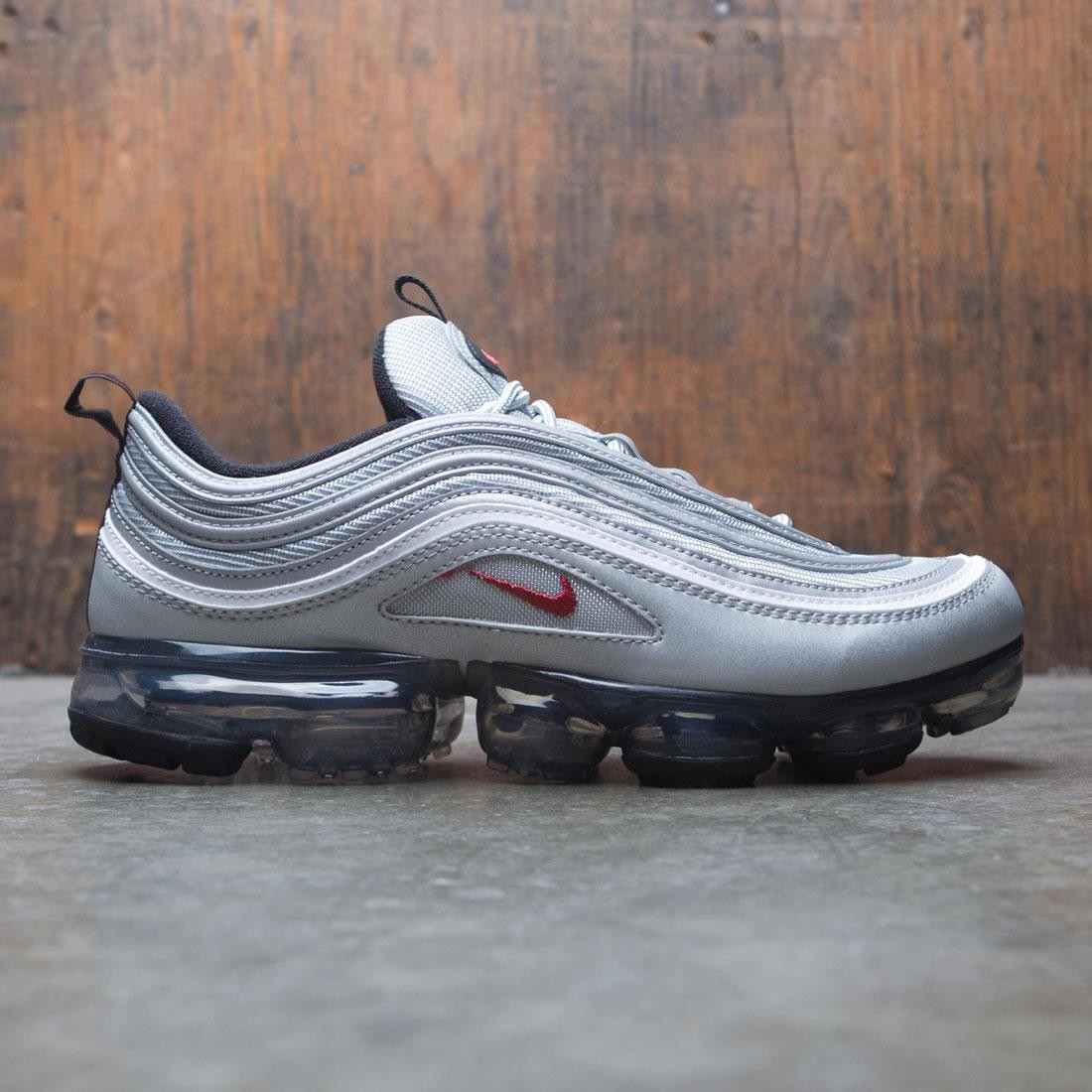 online store ef11c 7cdfe Nike Men Air Vapormax 97 (silver / metallic silver / varsity  red-white-black)