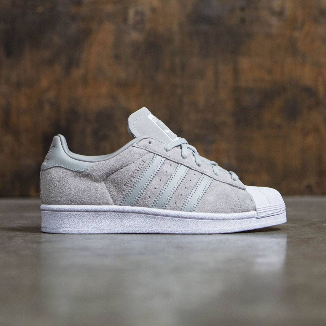 462186829c Adidas Women Superstar gray clear onix footwear white