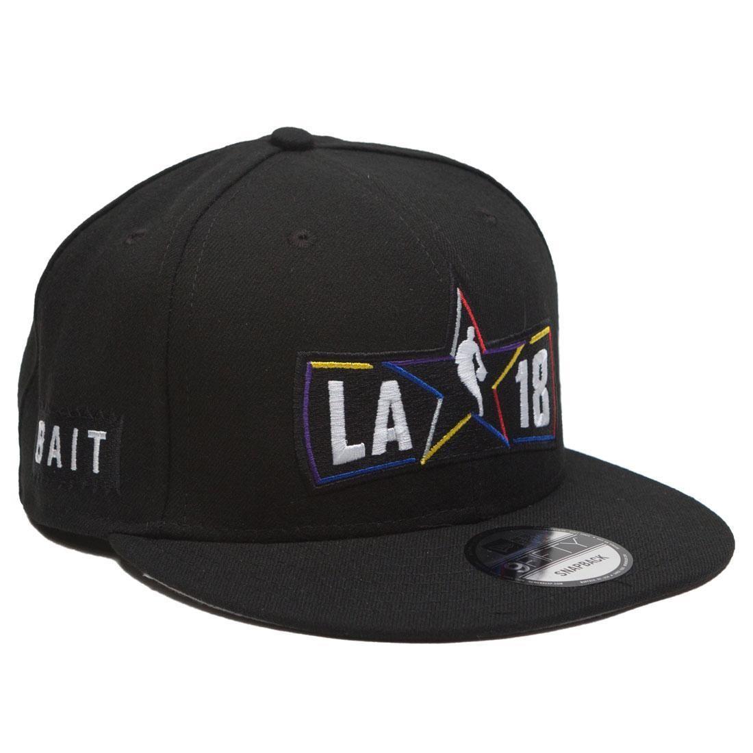 BAIT x NBA X New Era 9Fifty NBA All Star Game Alt Black Snapback Cap (black)