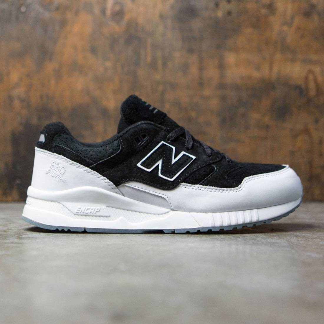 new balance black white