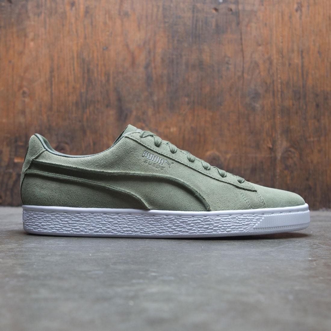 new style 027be 8c7db Puma Men Suede Classic - Exposed Seams (olive)