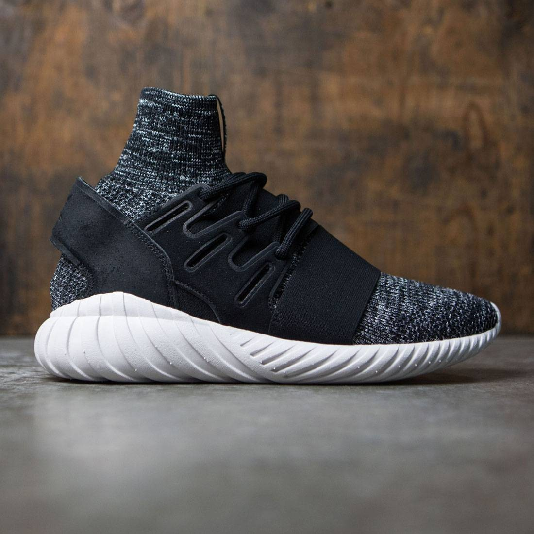 81abac07f75d Adidas Men Tubular Doom Primeknit black granite vintage white