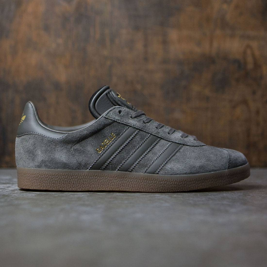 Adidas Men Gazelle (gray / utility grey / gum)