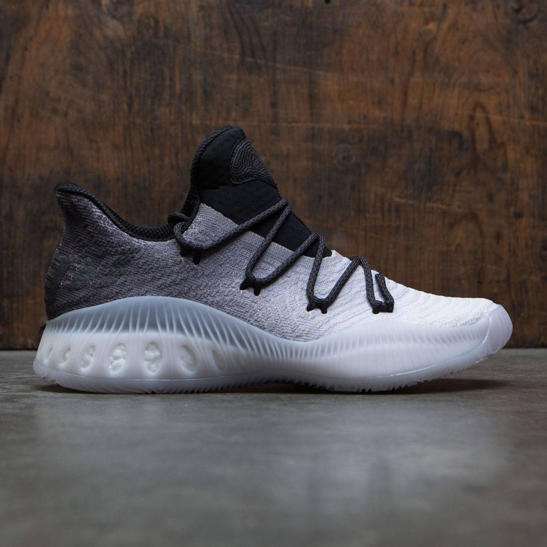 new concept b0471 dd0b1 Adidas Men Crazy Explosive Low Primeknit gray ligh solid grey footwear white  core black