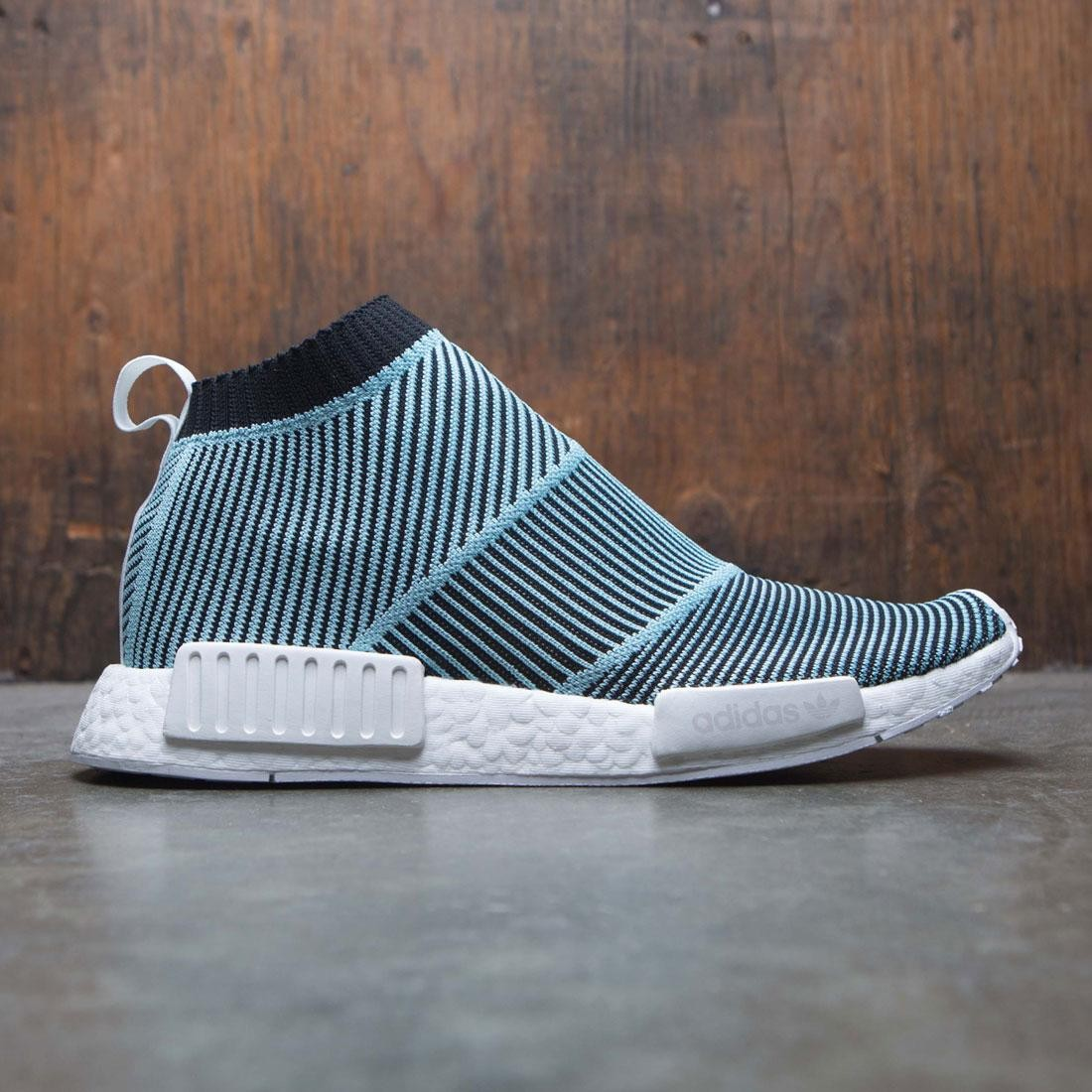 5c5ad8e3d Adidas Men NMD CS1 Parley Primeknit black core black blue spirit