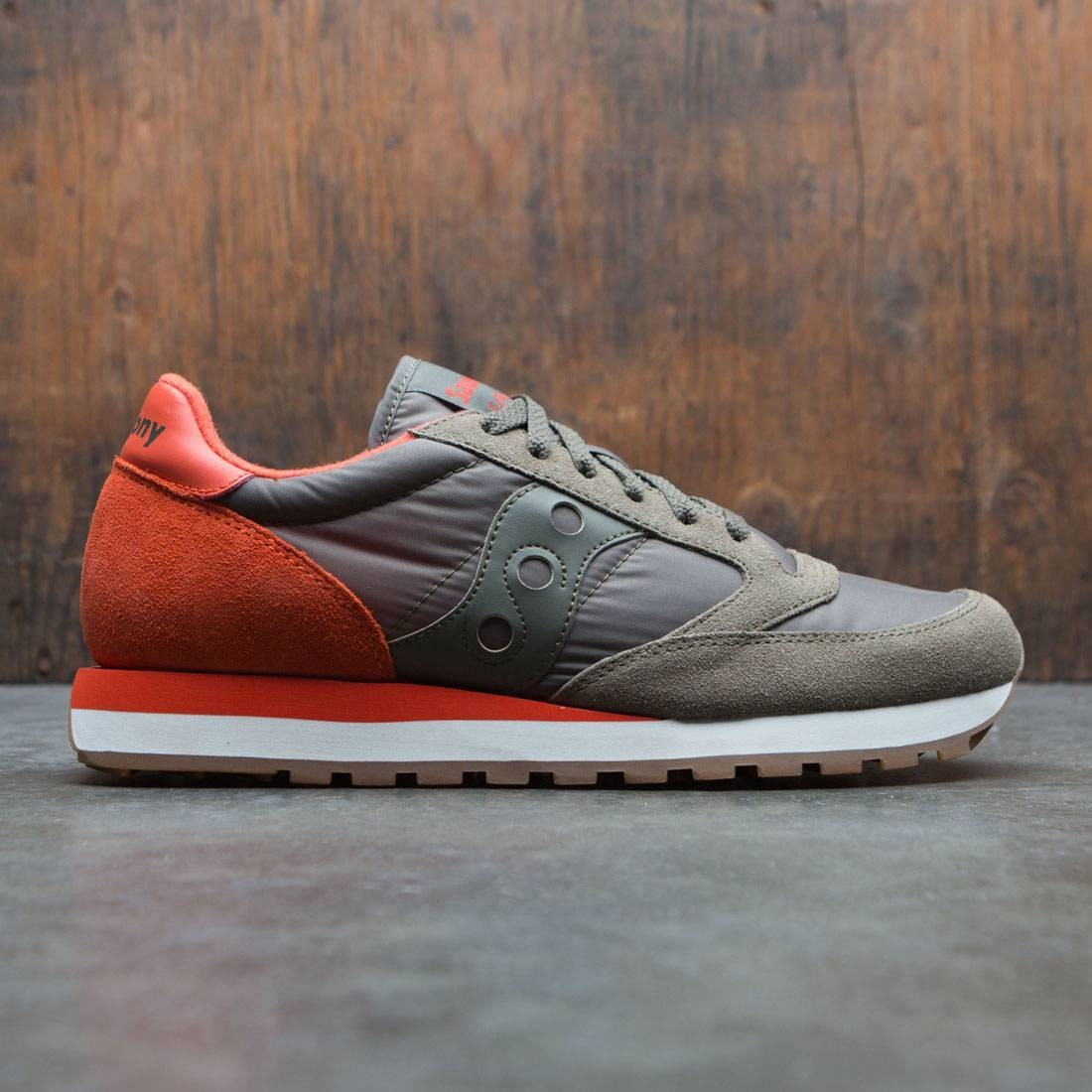 finest selection 24383 7865d Saucony Men Jazz Original green olive cherry