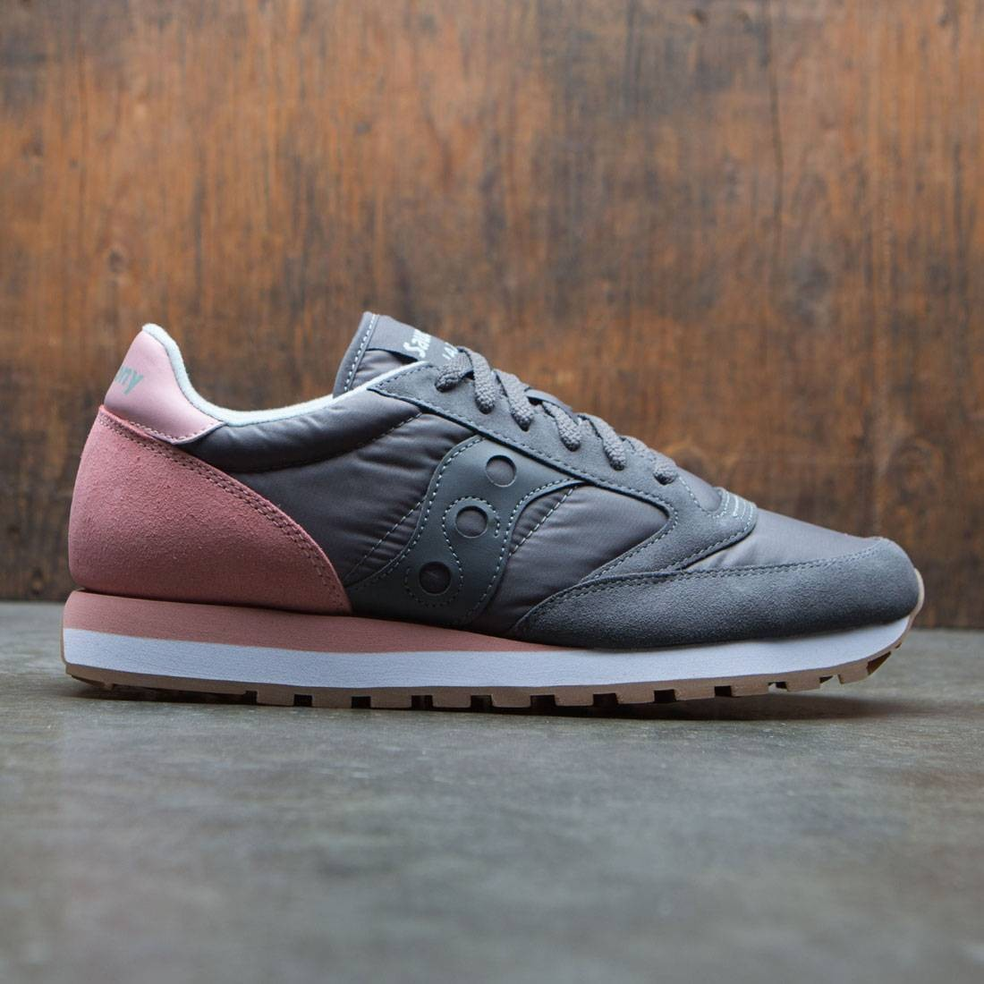 wholesale dealer e57ff c942f Saucony Men Jazz Original (gray / charcoal / pink)