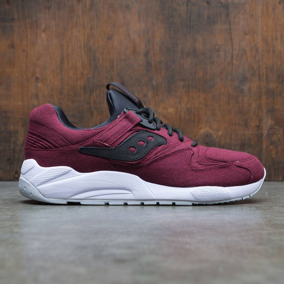 hot sale online a8280 28a97 Saucony Men Grid 9000 HT burgundy maroon