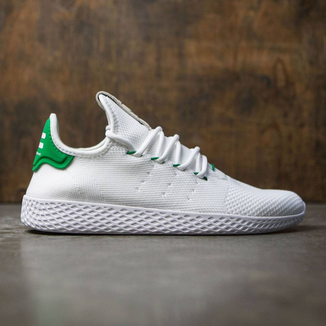 aaa1e11615e4c Adidas x Pharrell Williams Men Tennis HU white footwear white green