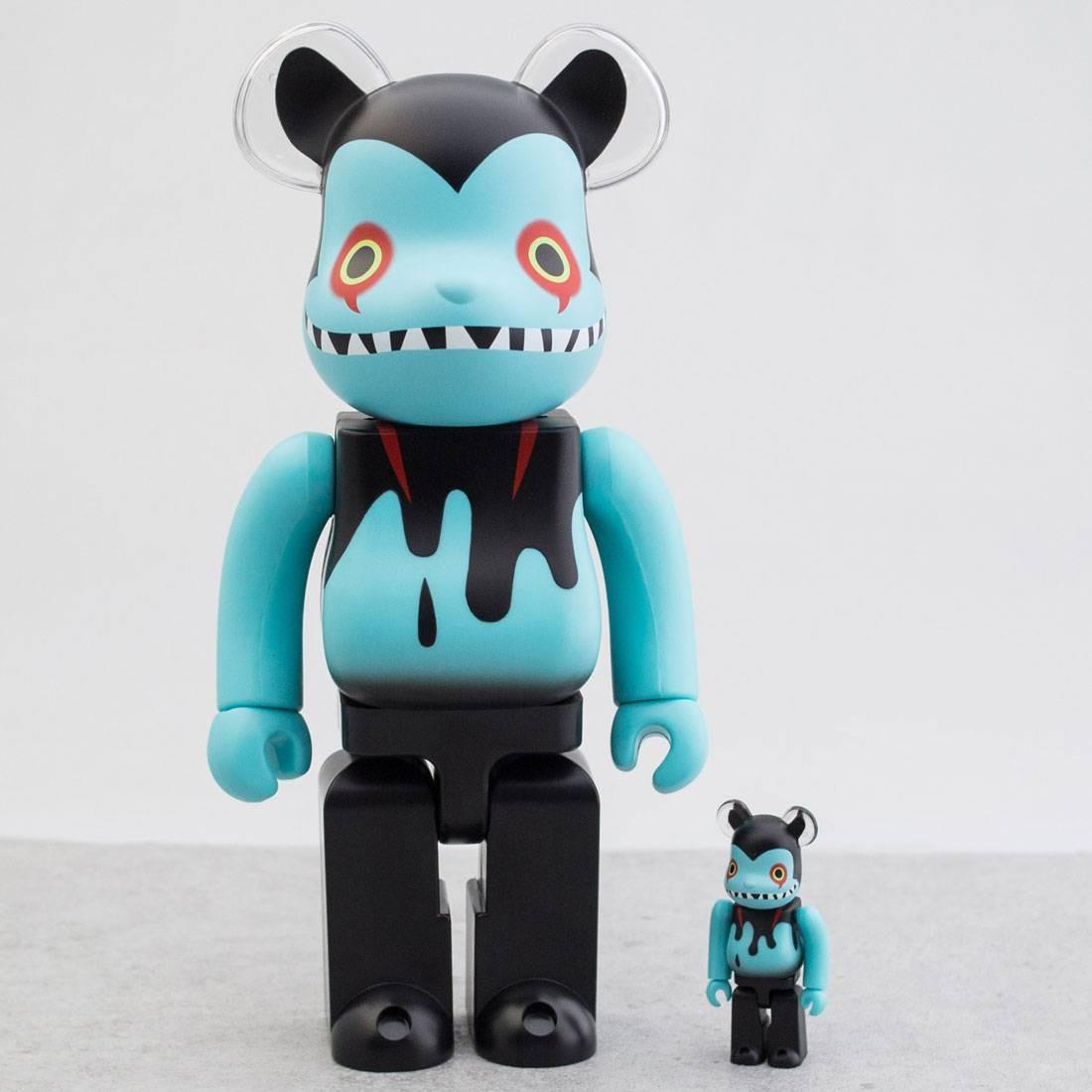 Medicom x Shoko Nakazawa Devilman Byron 100% 400% Bearbrick Figure Set (blue)