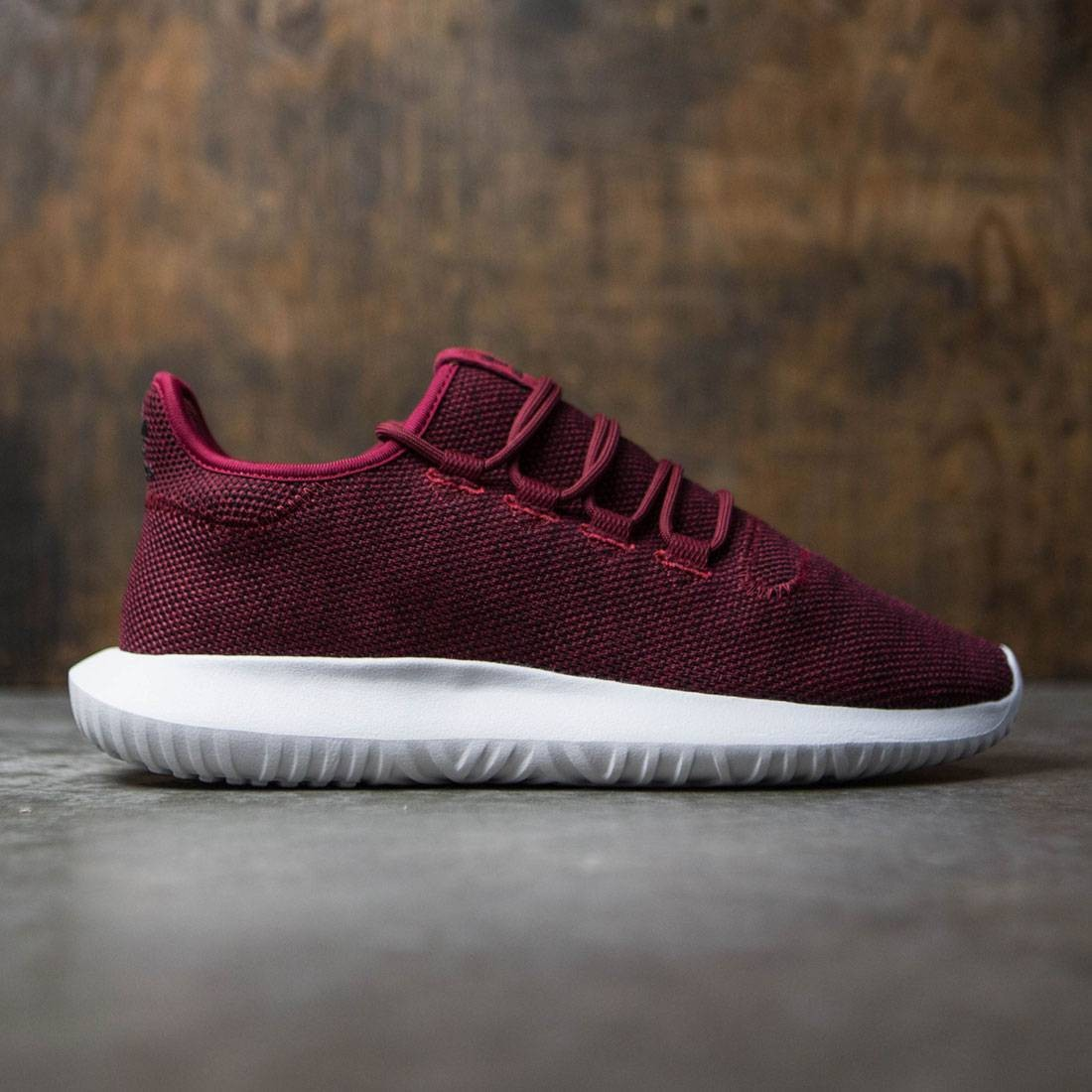 5b0061da4be7 Adidas Men Tubular Shadow burgundy core black footwear white