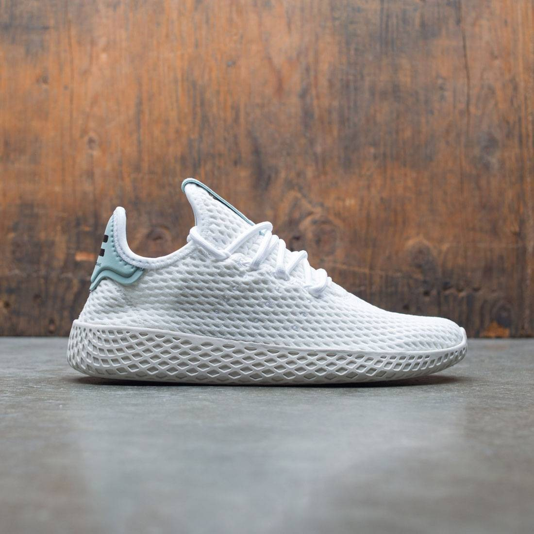 Adidas x Pharrell Williams Big Kids Tennis HU J (white / footwear white / tactile green)