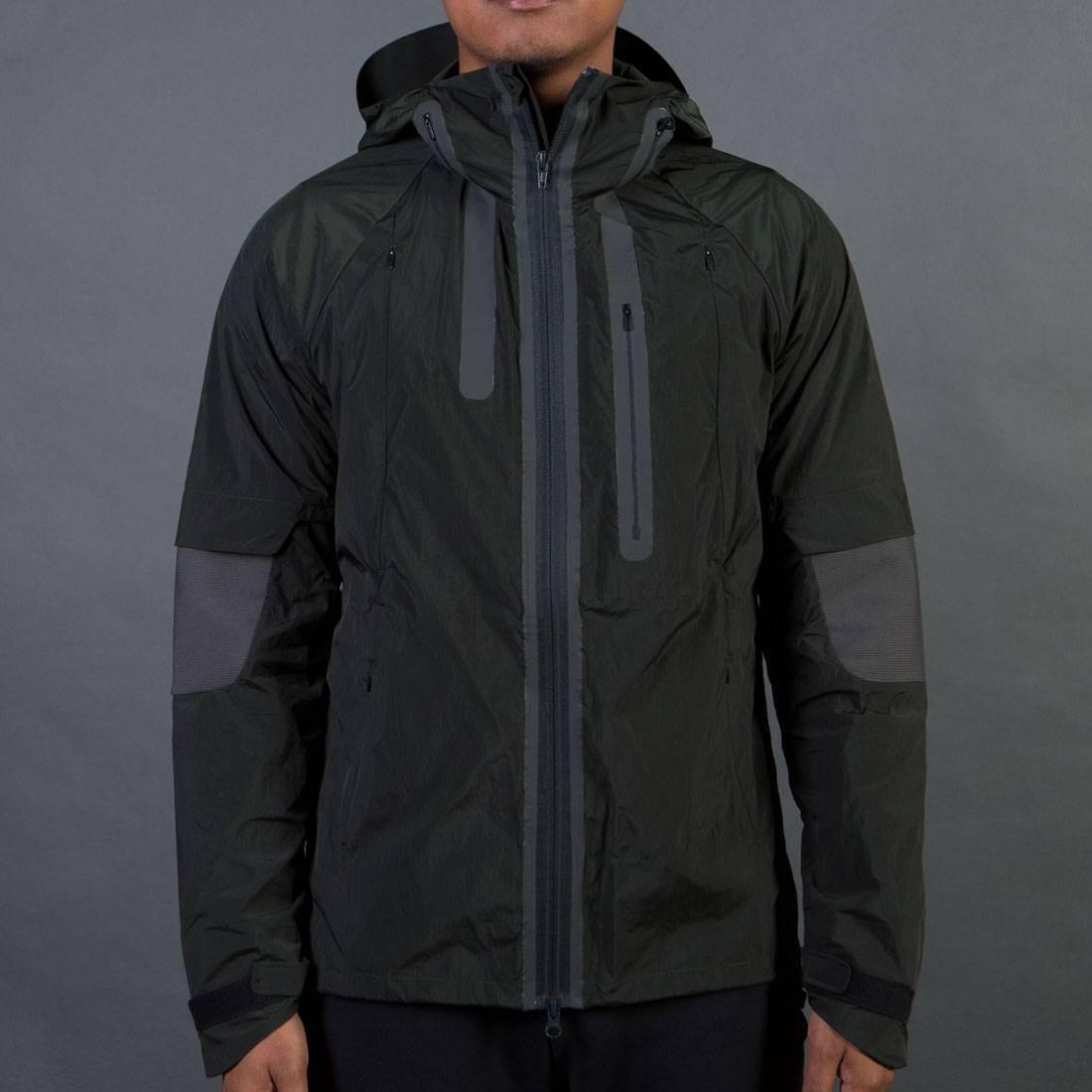 Adidas Y-3 Men Nylon Hood Jacket (olive / dark black olive)
