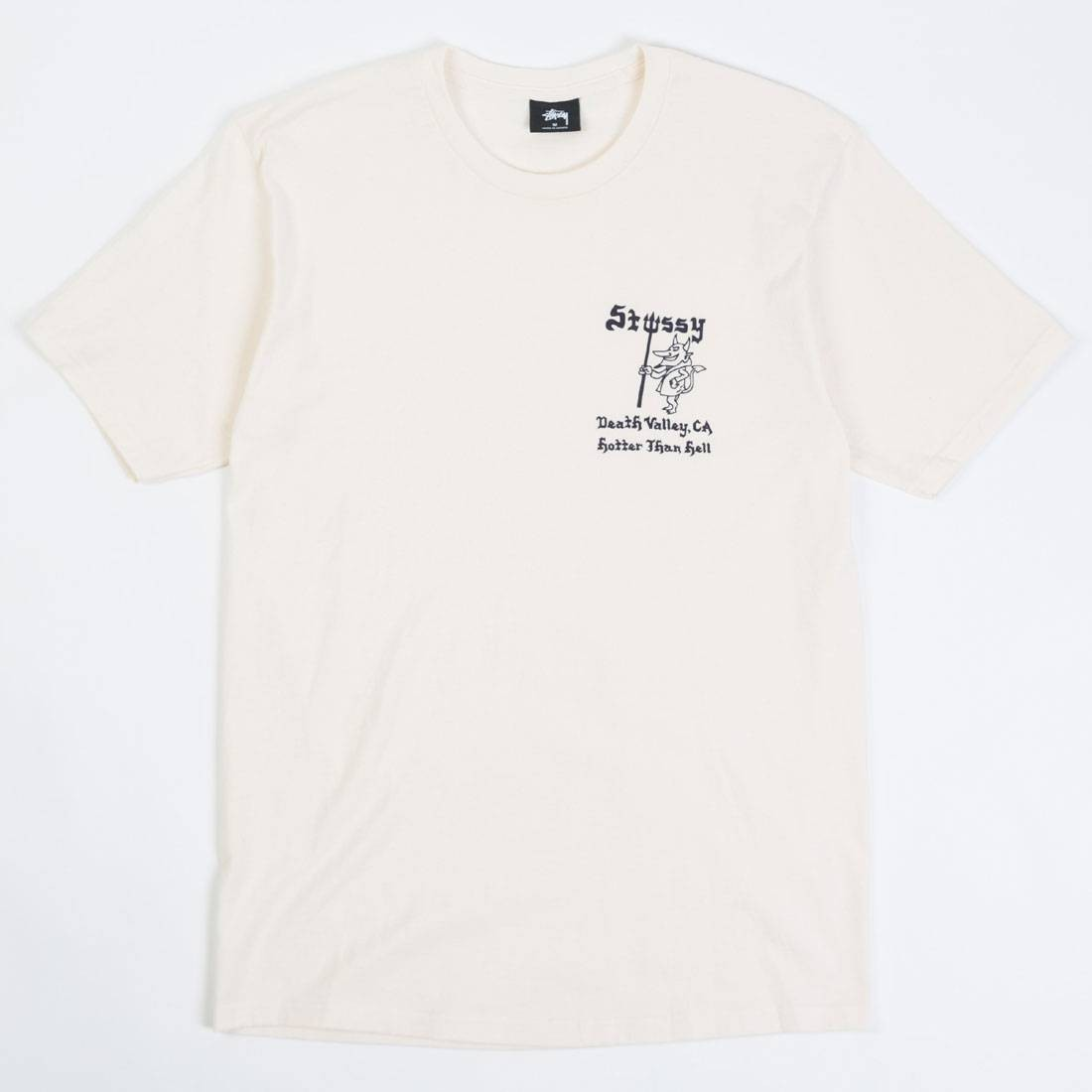 Stussy Men Hotter Than Hell Tee (white / natural)