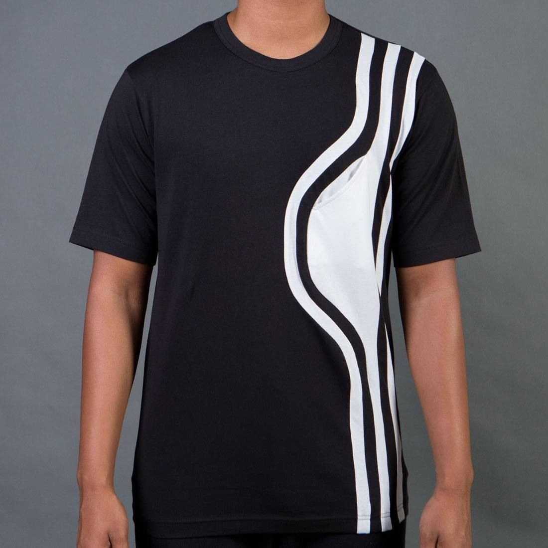 Adidas Y-3 Men Stripes Short Sleeve Tee (black)