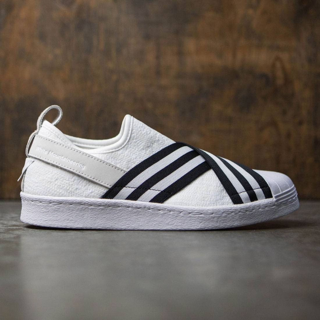 on sale afeb3 71995 Adidas Men White Mountaineering Superstar Slip-On Primeknit (white / core  black / footwear white)