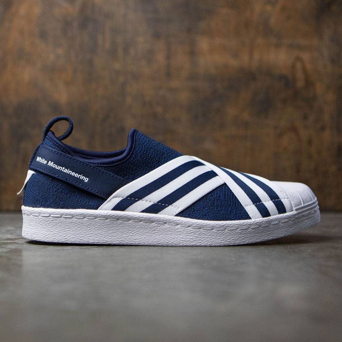 1f6b7ceedccd4 Adidas Men White Mountaineering Superstar Slip-On Primeknit navy collegiate  navy footwear white