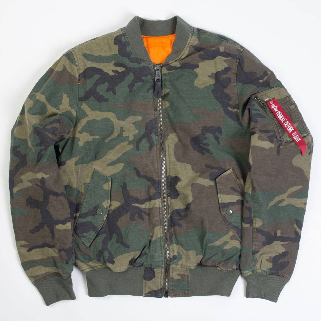 Alpha Industries Men MA-1 CTN Reversible Jacket (camo / woodland camo)