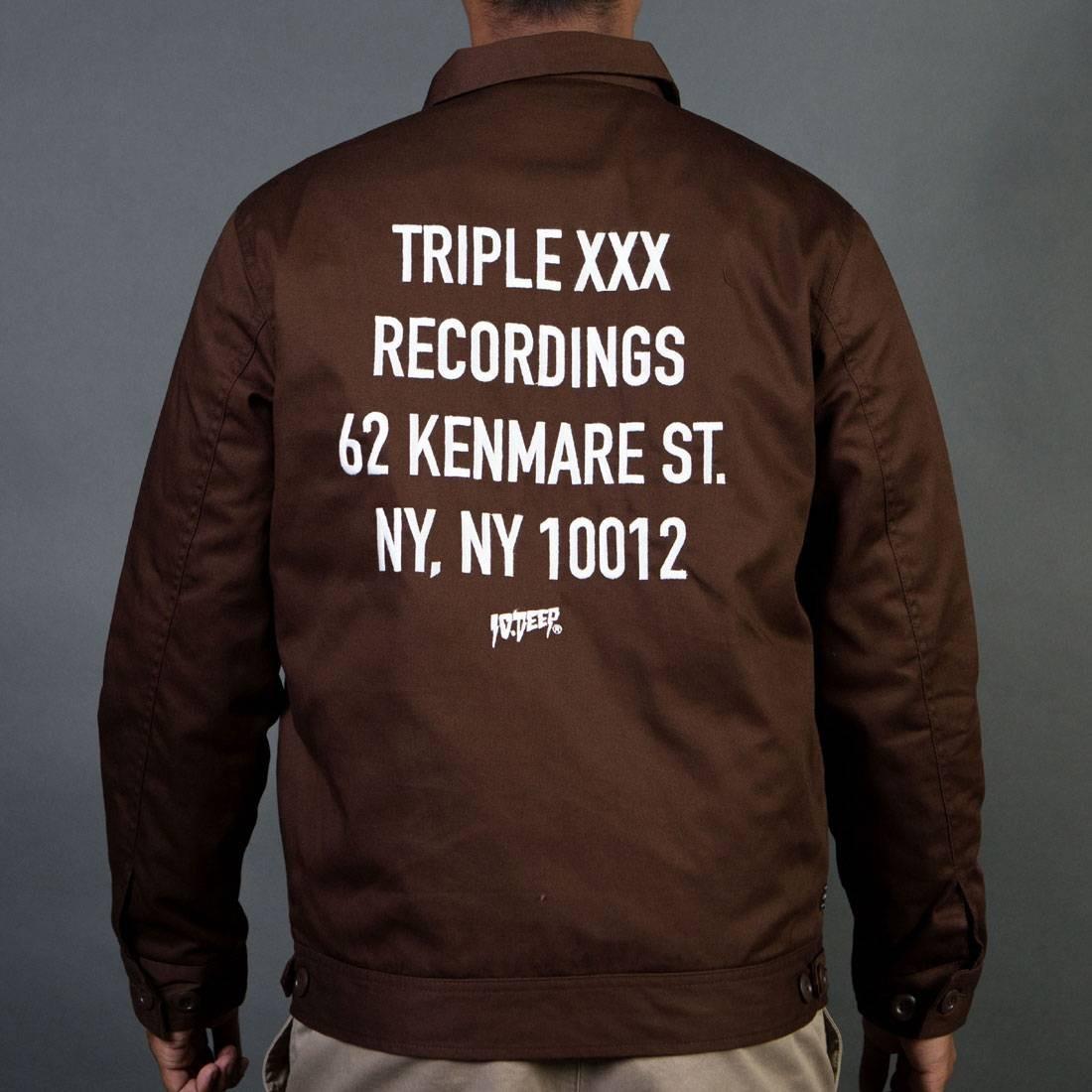 10 Deep Men Triple X Staff Recording Jacket (brown / chocolate)
