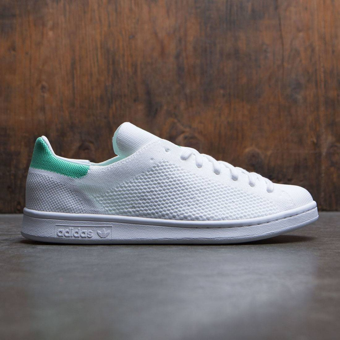 huge discount a9587 91710 Adidas Men Stan Smith Primeknit (white / footwear white / green glow)