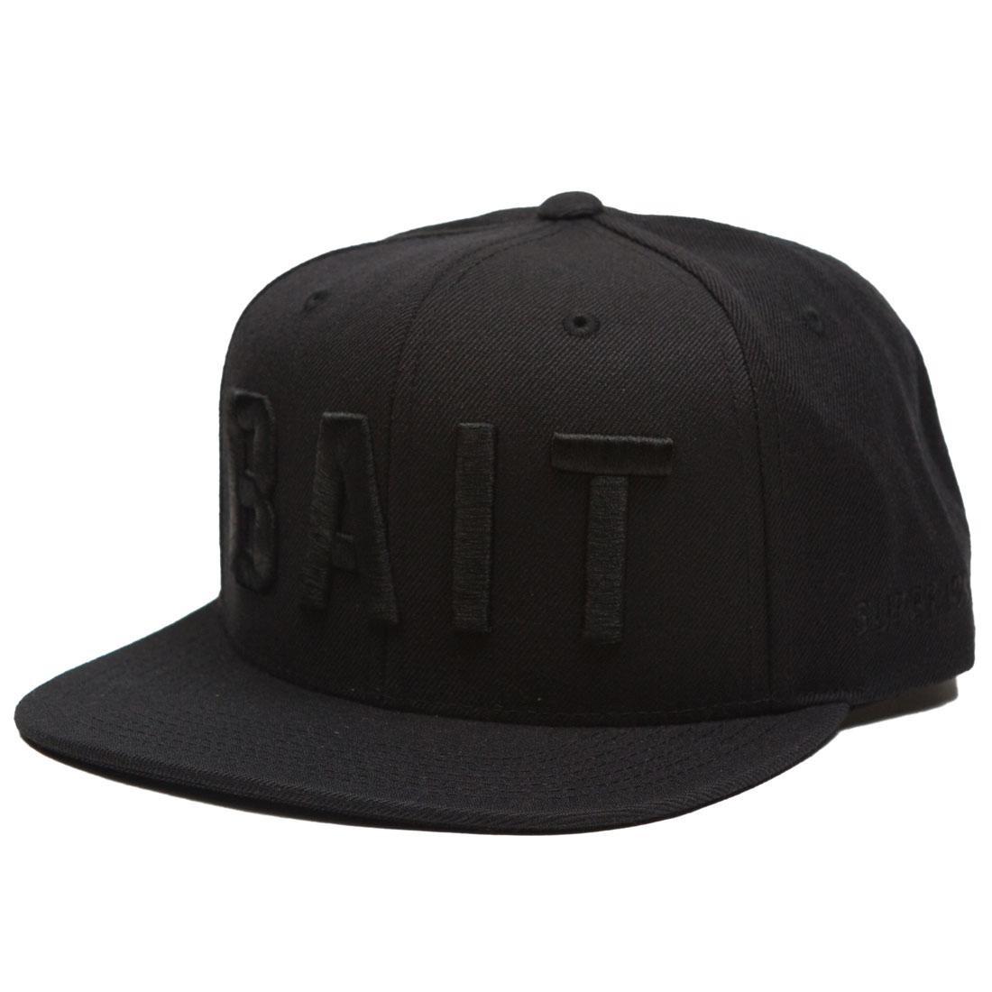 BAIT Logo Snapback Cap (black / black)