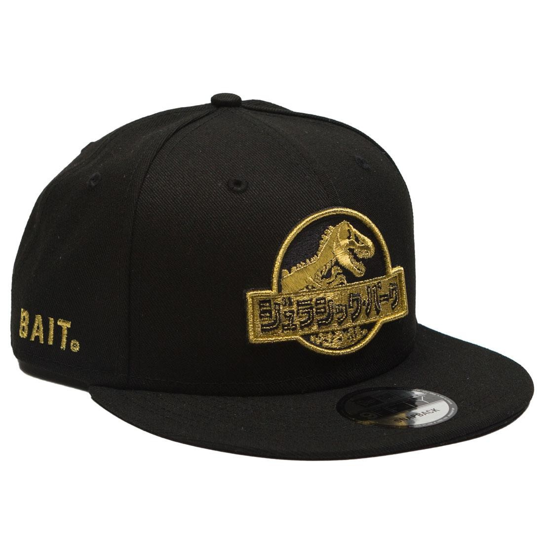 BAIT X Jurassic Park x New Era Damage Control Snapback Cap (black / gold)