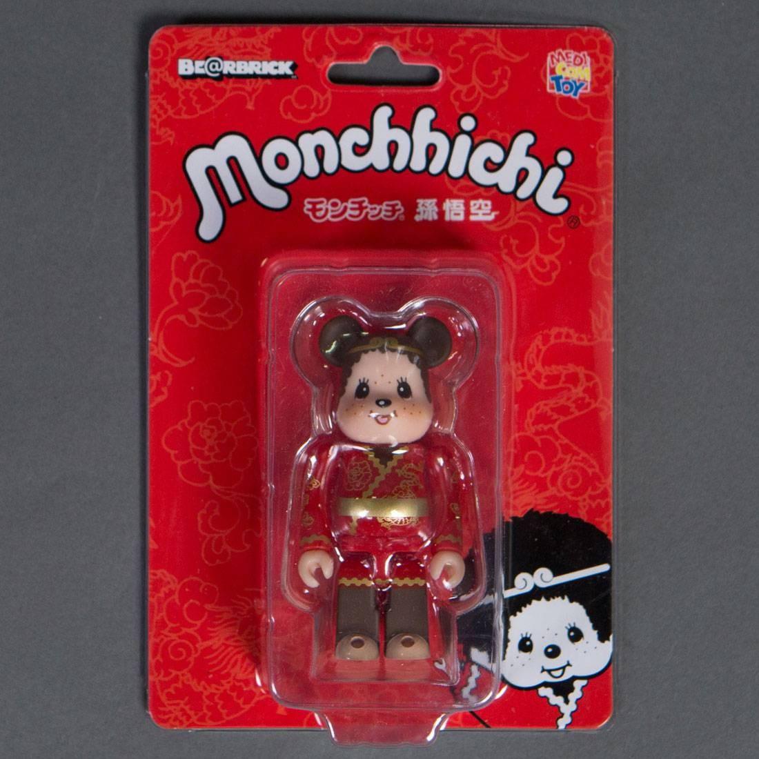 Medicom Monchhichi Songoku 100% Bearbrick Figure (red / brown)