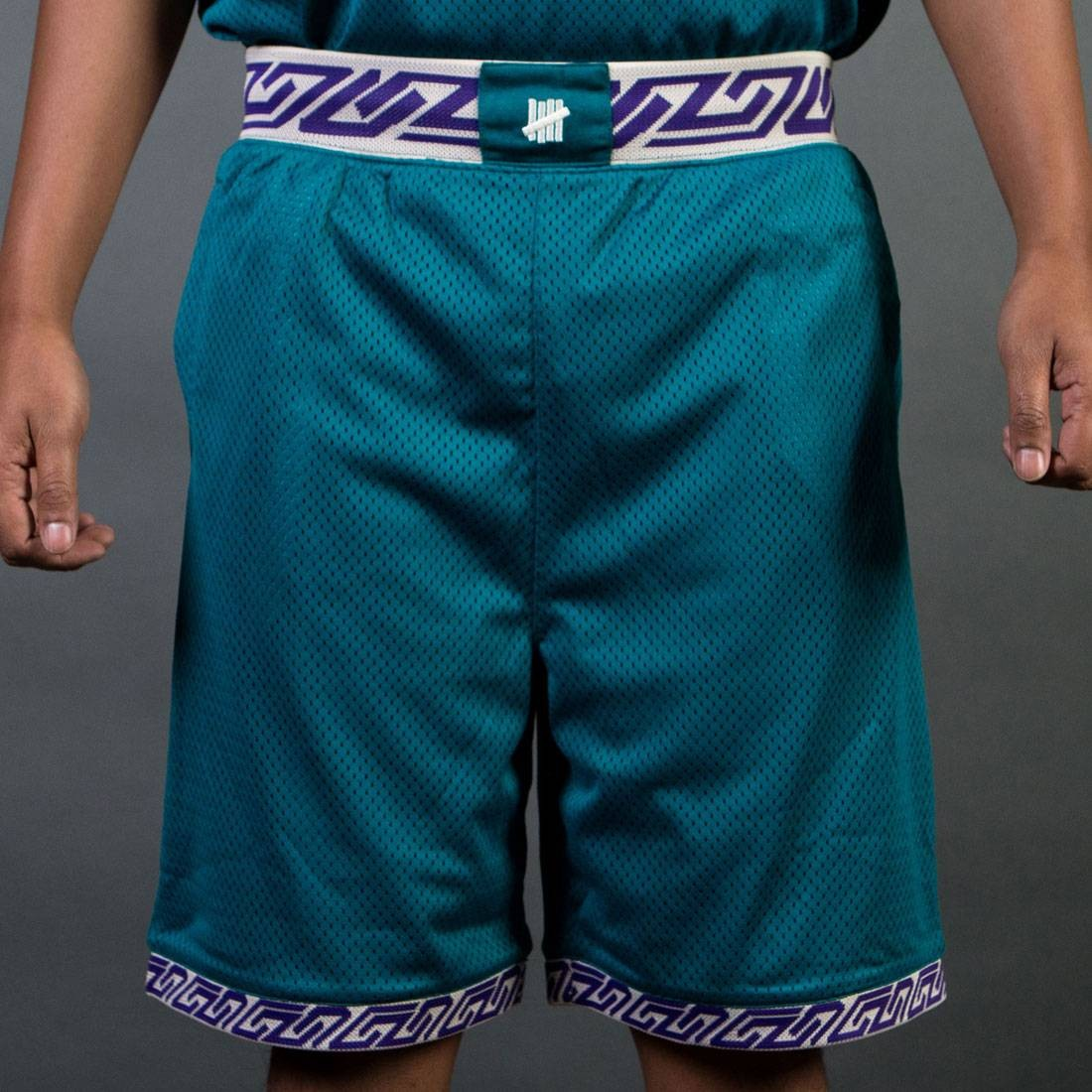 new arrival 565cb 89267 Undefeated Men Authentic Basketball Shorts (teal / green)