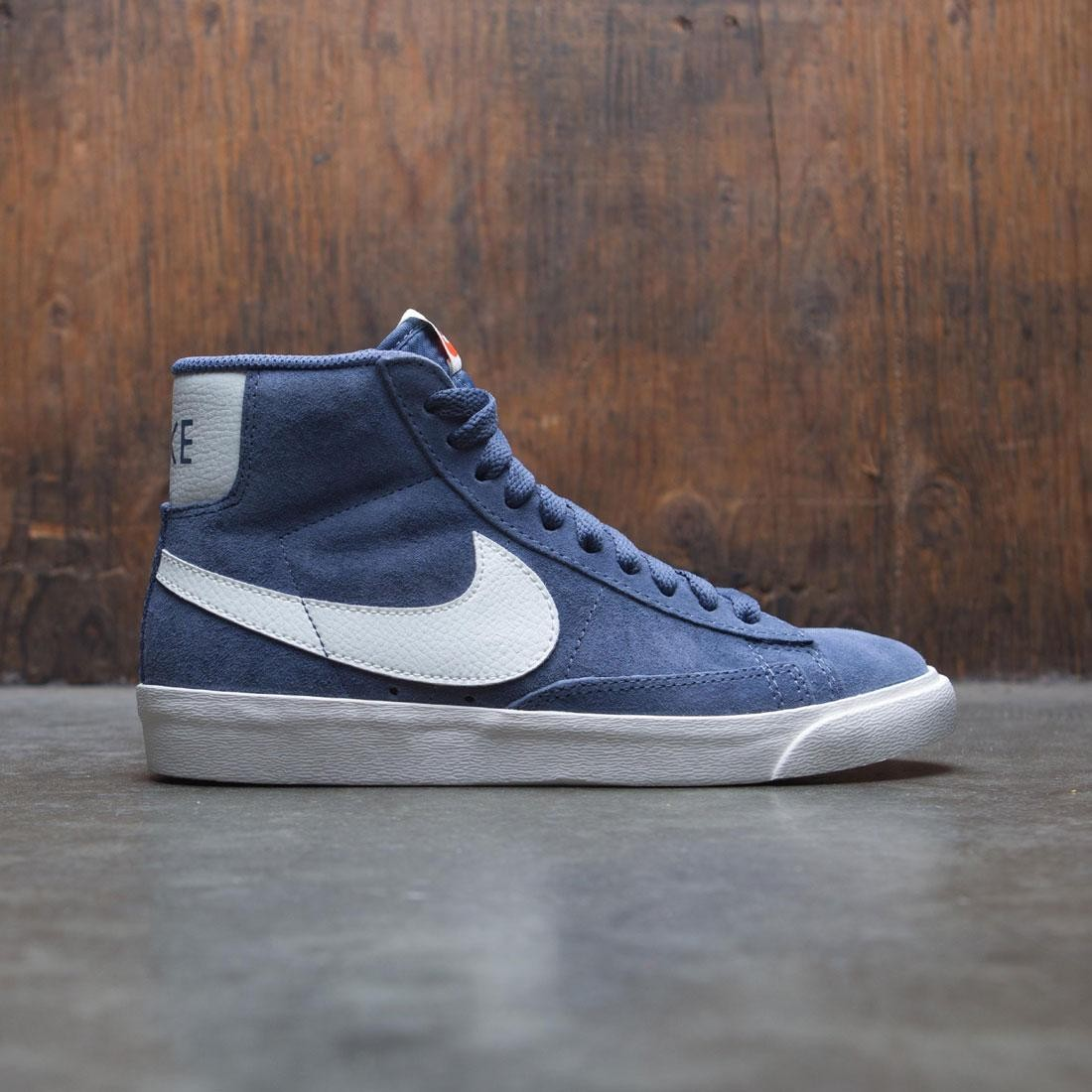 best sneakers 8b330 b7f4e nike women blazer mid suede vintage diffused blue sail sail