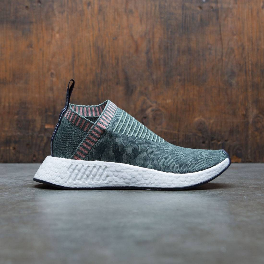 4e0cb2ef1cd25 Adidas Women NMD CS2 Primeknit W green trace green trace pink
