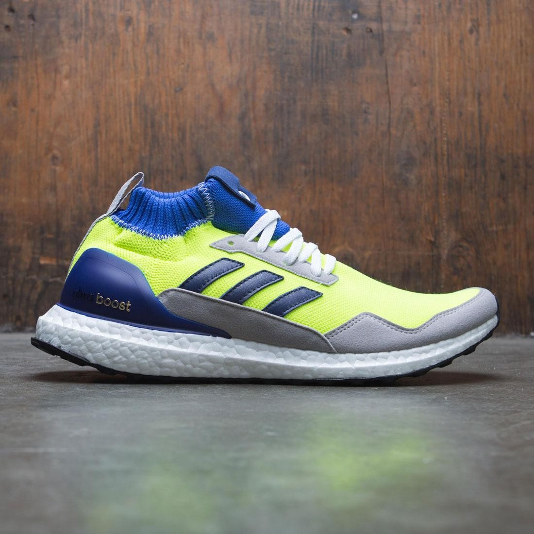 2185446db Adidas Men UltraBOOST Mid Proto yellow solar yellow hi-res blue white