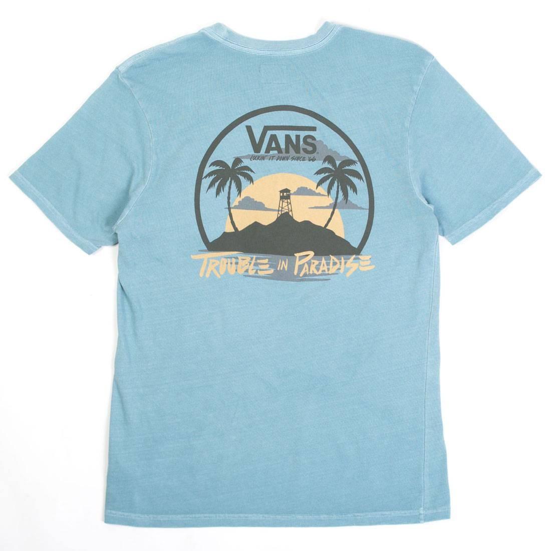 Vans Men Troubled Pocket Tee (blue / larkspur)