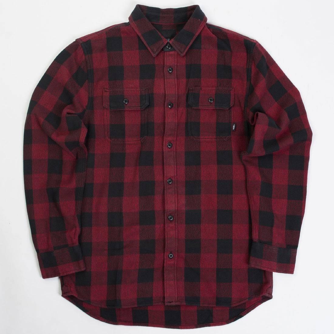 Vans Men Wisner Flannel Shirt (red / chilli pepper)