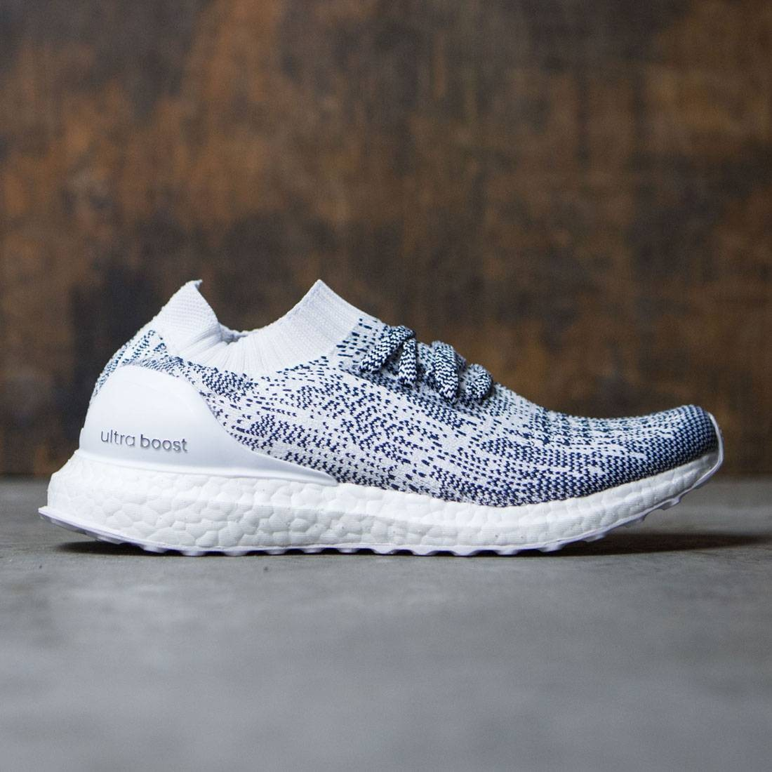 2fb7ef0d933c8 Adidas Men Ultra Boost Uncaged white non dyed collegiate navy