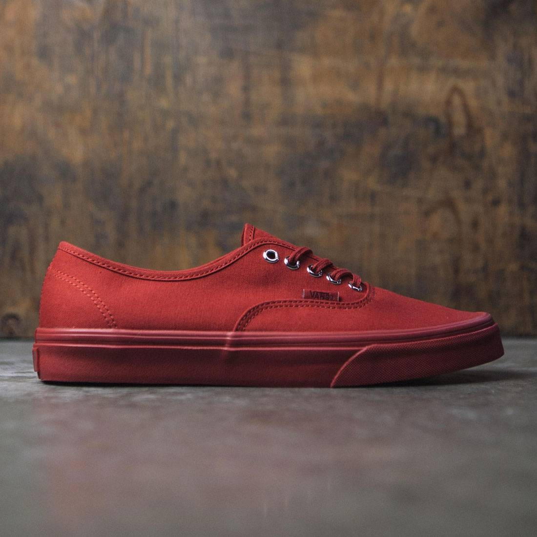 ab60d324ede Vans Men Authentic - Primary Mono red silver