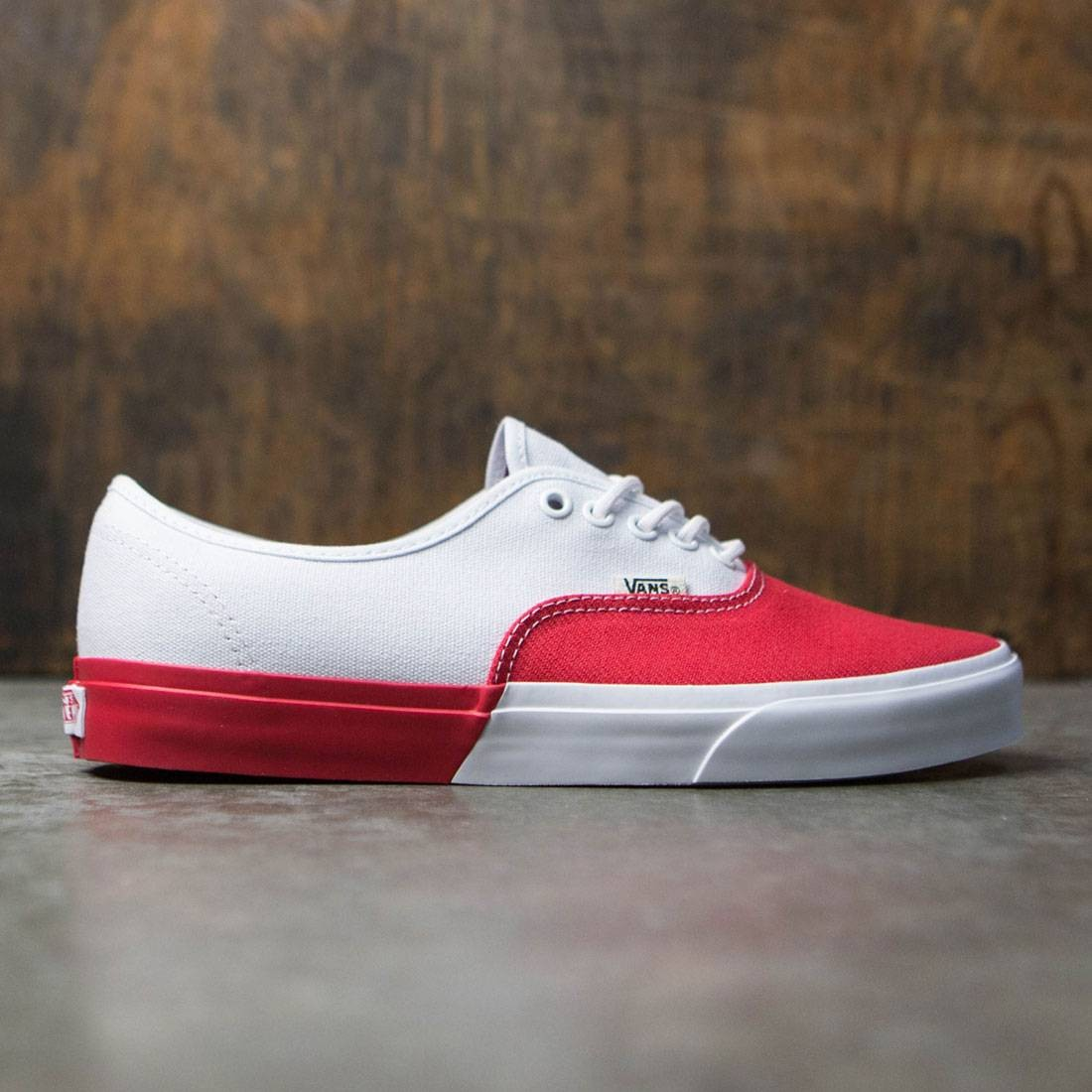 7cce7d14e71 Vans Men Authentic DX - Blocked white red