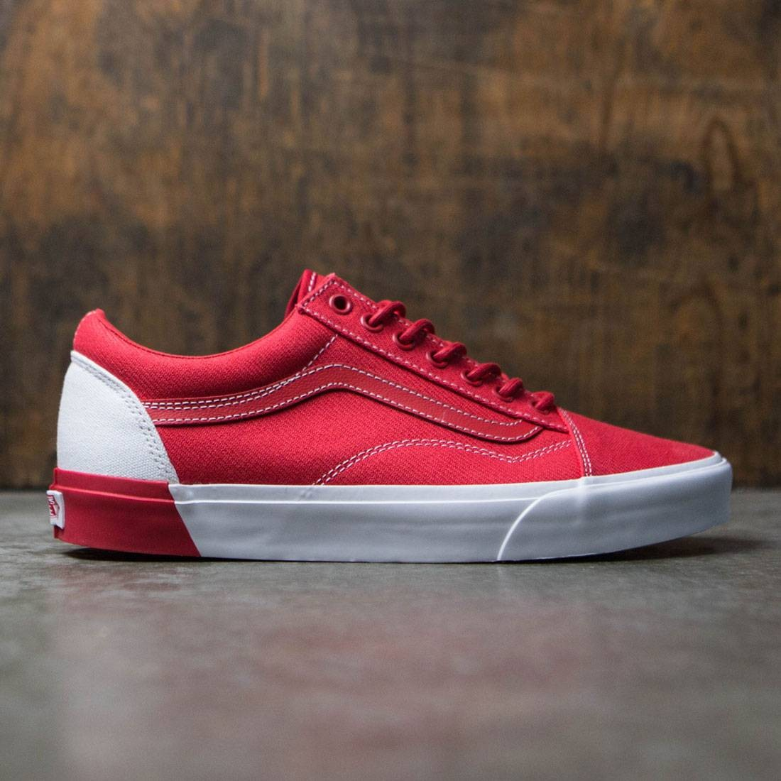 Vans Men Old Skool DX - Blocked red white c6d5dc16d